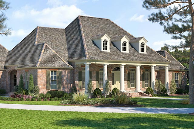 Step #3: Select Your Home's Exterior Style - Carroll ... Raised Acadian Style House Plans on